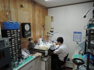 樫村くんの作業風景